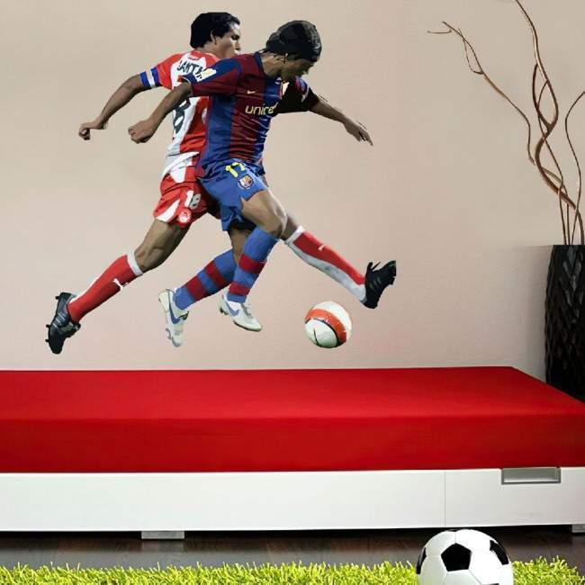 Αυτοκόλλητο τοίχου Fight for the ball καλλιτεχνική απεικόνηση
