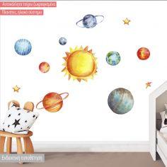 Αυτοκόλλητα τοίχου Πλανήτες ζωγραφισμένοι