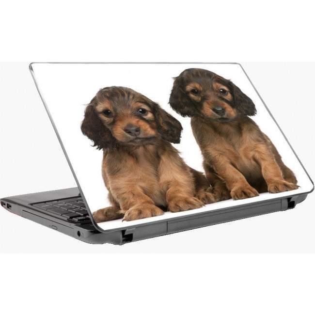 Χαριτωμένα κουταβάκια  αυτοκόλλητο laptop