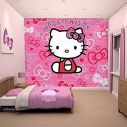 Hello Kitty χάρτινη ταπετσαρία