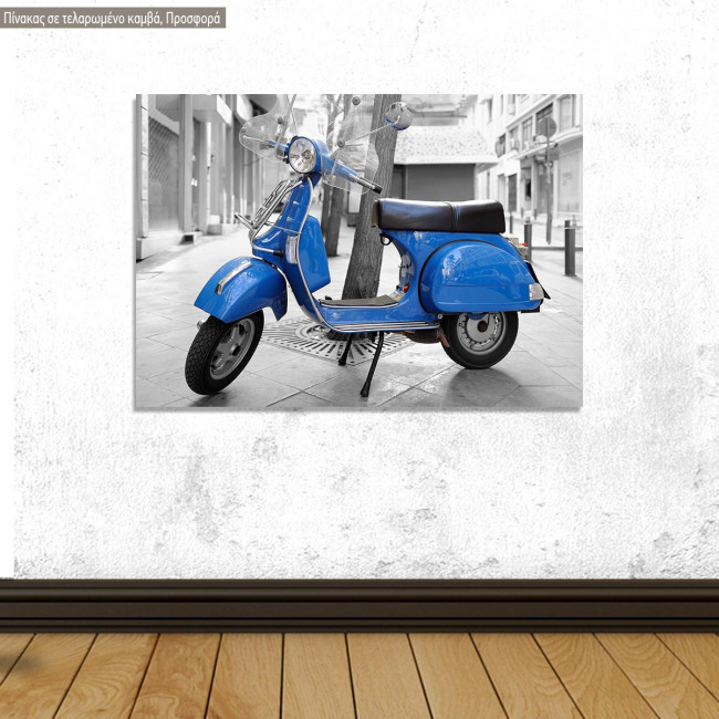 Canvas print  Offer Italian retro vespa