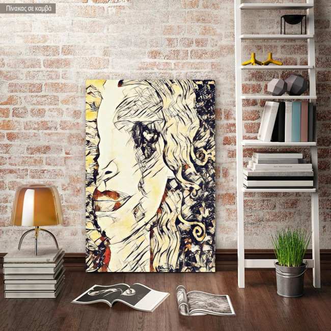 Canvas print Freya's tears reart (original Klimt G)