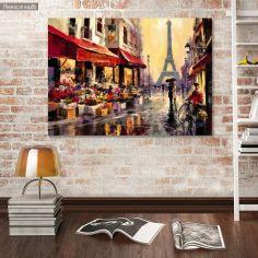 Πίνακας σε καμβά Rainy Paris