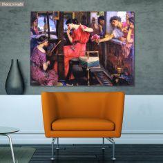 Πίνακας ζωγραφικής Penelope and the suitors, Waterhouse J. W, αντίγραφο σε καμβά