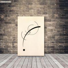 Πίνακας ζωγραφικής Free curve to the point, Kandinsky W, αντίγραφο σε καμβά