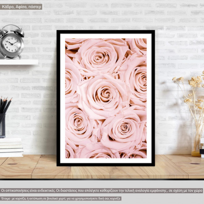 Bouquet Pink roses, poster