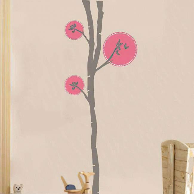 Αυτοκόλλητο τοίχου δέντρο και πεταλούδες, Butterflies tree 2