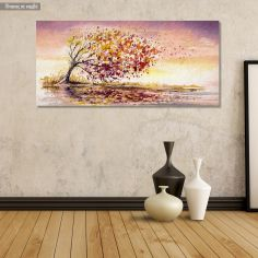 Canvas print Autumn wind panoramic