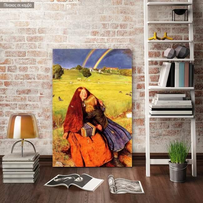 Canvas print The blind girl, Millais John Everett
