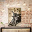 Canvas print Paris, Eiffel tower Vintage