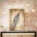 Πίνακας σε καμβά Λονδίνο, Big Ben vintage