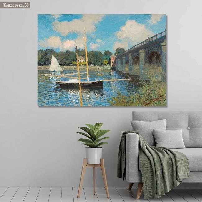 Πίνακας ζωγραφικής Brücke von Argenteuil, Monet, αντίγραφο σε καμβά