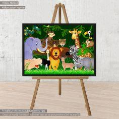 Χαρούμενη παρέα στην ζούγκλα, αφίσα, κάδρο
