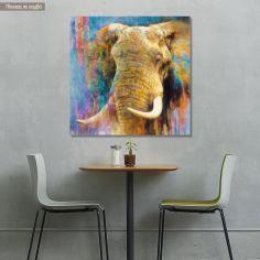 Πίνακας σε καμβά An elephant painitning