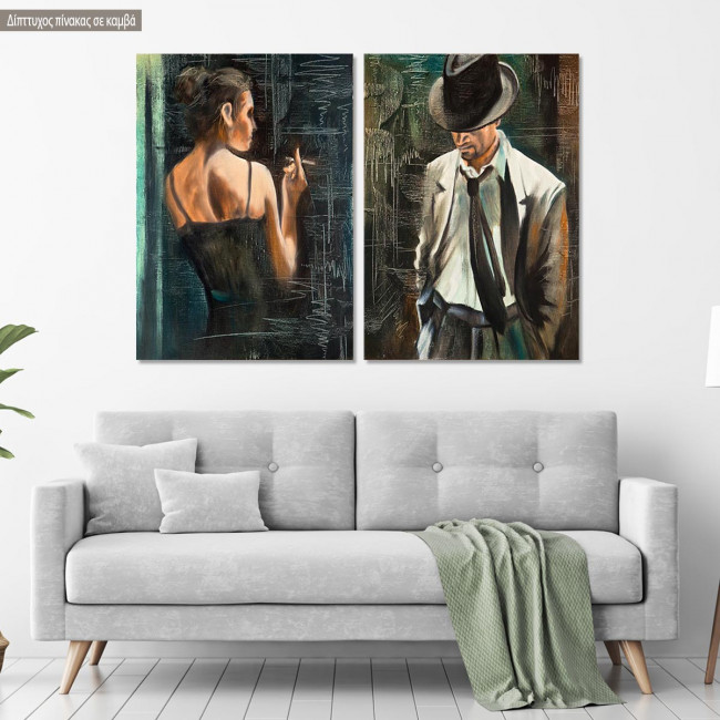 Canvas print Maybe, two panels