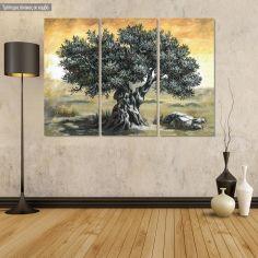Πίνακας σε καμβά Ελιά, τρίπτυχος