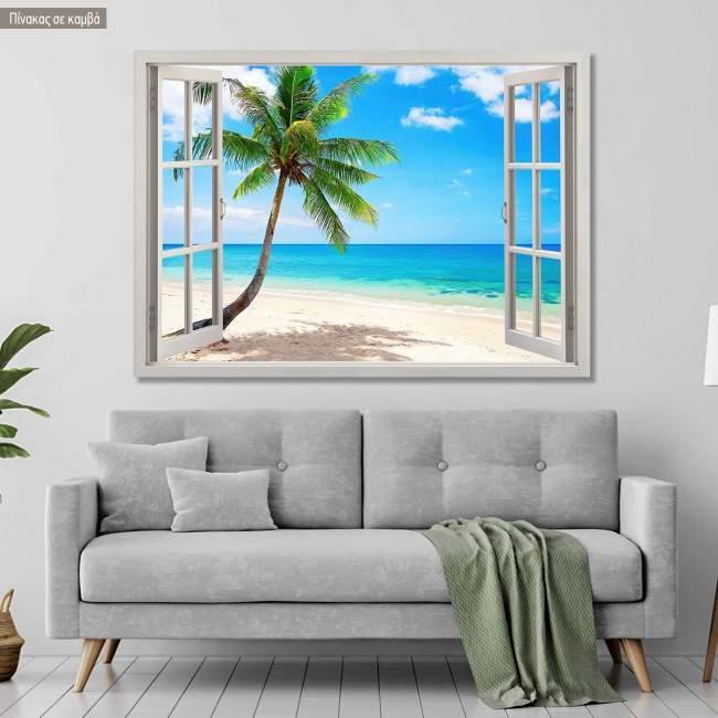 Canvas print Palm tree view