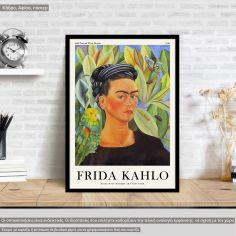 Αφίσα Έκθεσης Frida Kahlo, Self portrait I, αφίσα, κάδρο