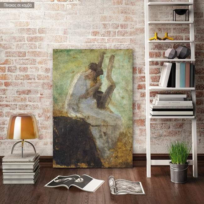 Πίνακας ζωγραφικής Σαπφώ παίζοντας τη λύρα, Γύζης Ν, αντίγραφο σε καμβά