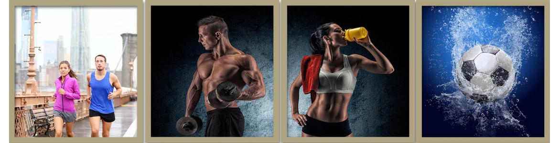 Άθληση - αναψυχή σε ταπετσαρίες τοίχου, πόστερ - αφίσες