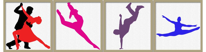 Χορός και μπαλλέτο σε αυτοκόλλητα τοίχου
