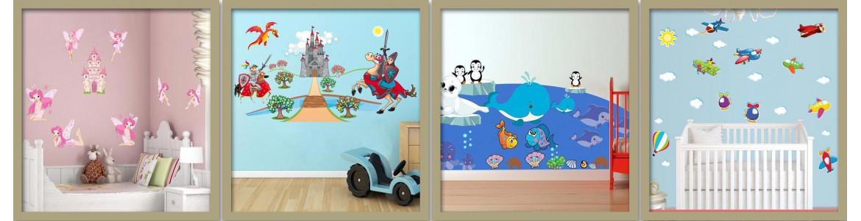 Αυτοκόλλητα τοίχου παιδικά, συλλογές σε μεγάλες διαστάσεις
