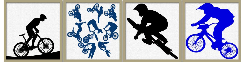 Bmx και ποδήλατο, αυτοκόλλητα τοίχου