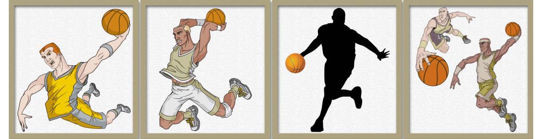 Μπάσκετ, αυτοκόλλητα τοίχου