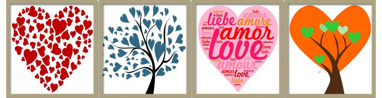 Έρωτας - αγάπη, αυτοκόλλητα τοίχου