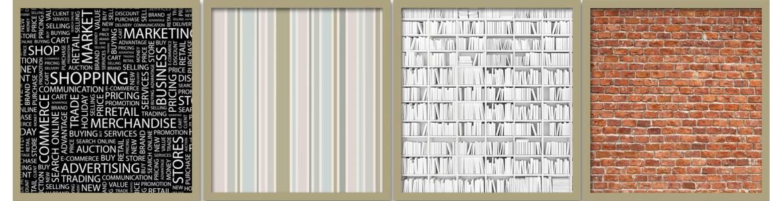 Μοτίβα & υφές υλικών σε ταπετσαρίες τοίχου, πόστερ - αφίσες