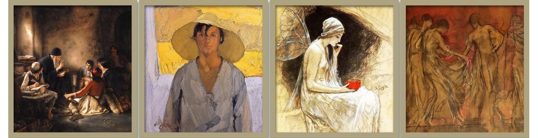 Πίνακες ζωγραφικής, Έλληνες Ζωγράφοι, αντίγραφα σε καμβά