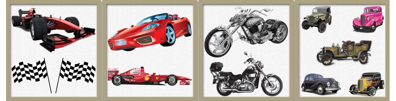 Αυτοκίνητο & μηχανή σε αυτοκόλλητα τοίχου