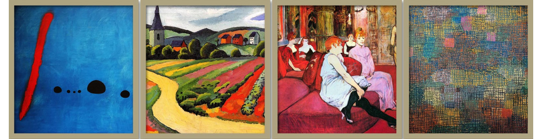 Πίνακες ζωγραφικής, Ξένοι  Ζωγράφοι, αντίγραφα σε καμβά