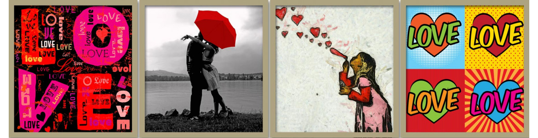 Πίνακες σε καμβά, αγάπη, έρωτας, πάθος