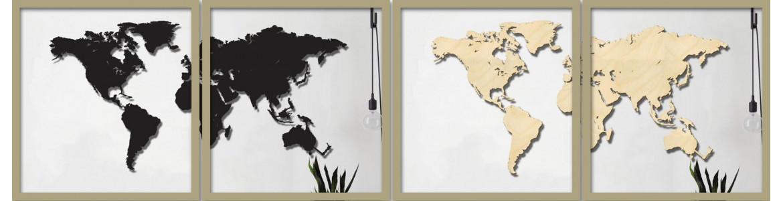 Χάρτες της γης , ξύλινοι , plexiglas , μεταλλικοί 3d