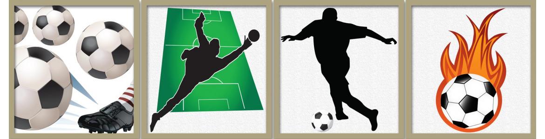 Ποδοσφαίρο σε αυτοκόλλητα τοίχου, μεγάλη ποικιλία, οικονομικες τιμές