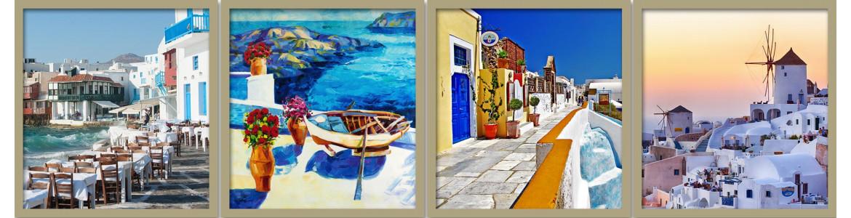 Πίνακες σε καμβά, Θάλασσα, νησιά, καράβια