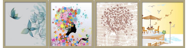 Αφηρημένη τέχνη  σε αυτοκόλλητα, ταπετσαρίες, αφίσες, πόστερ ντουλάπας