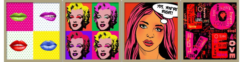 Pop art - comics σε αυτοκόλλητα, ταπετσαρίες, αφίσες, πόστερ ντουλάπας