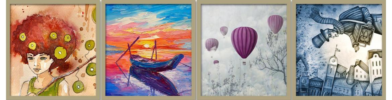 Πίνακες ζωγραφικής σε αυτοκόλλητα, ταπετσαρίες, αφίσες,  ντουλάπας