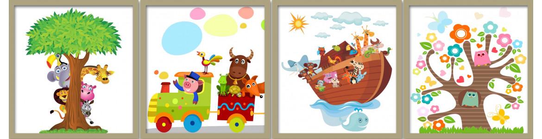 Αυτοκόλλητα τοίχου παιδικά, διάφορα σχέδια