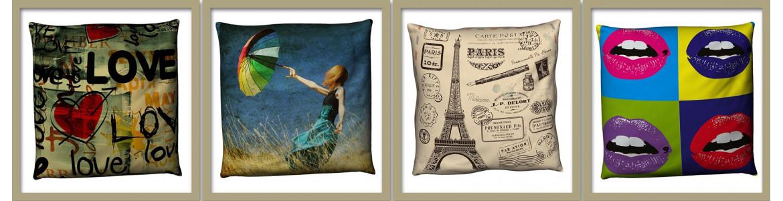Διακοσμητικά μαξιλάρια για ένα φανταστικό καναπέ ή κρεβάτι