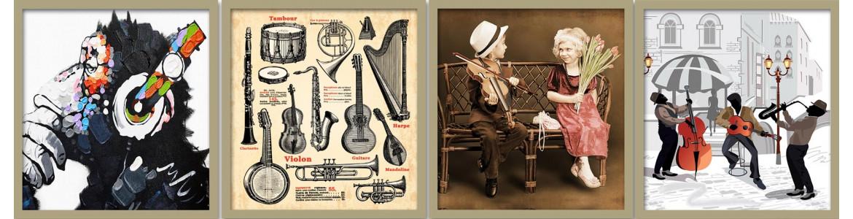 Μουσική σε ταπετσαρίες τοίχου, πόστερ - αφίσες