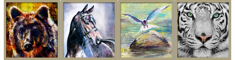 Πίνακες σε καμβά με ζώα