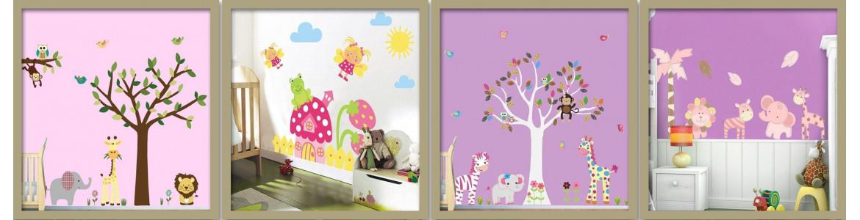 Αυτοκόλλητα τοίχου παιδικά, Κορίτσια