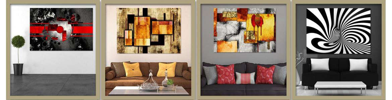 Πίνακες σε καμβά,  Γεωμετρικοί, Abstract, Αφηρημένοι