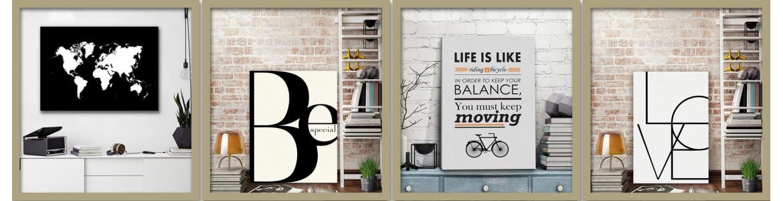 Πίνακες σε καμβά με θέματα από posters , typography