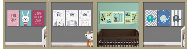 Πολύπτυχοι παιδικοί πίνακες σε καμβά , πόστερ