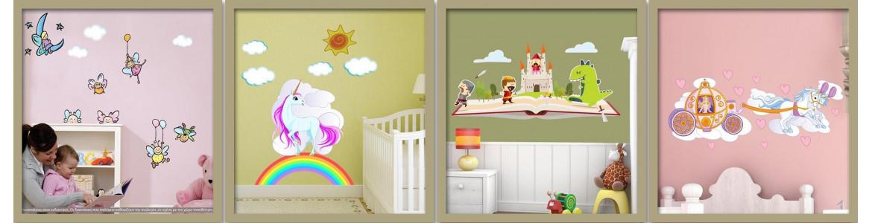 Αυτοκόλλητα τοίχου παιδικά, Παραμύθια, φαντασία