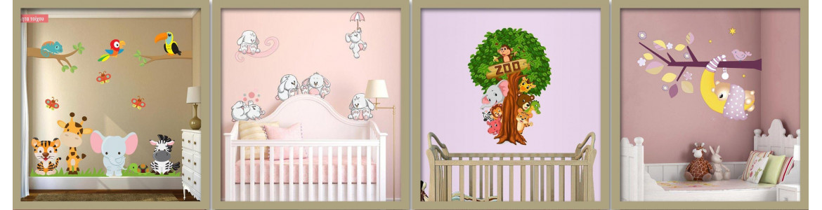 Wall Stickers for kids, Animals